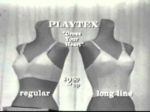 A vintage commercial for playtex bullet bras. Thought you all might like  this. :)   Cross your heart bra, Playtex, Retro ads