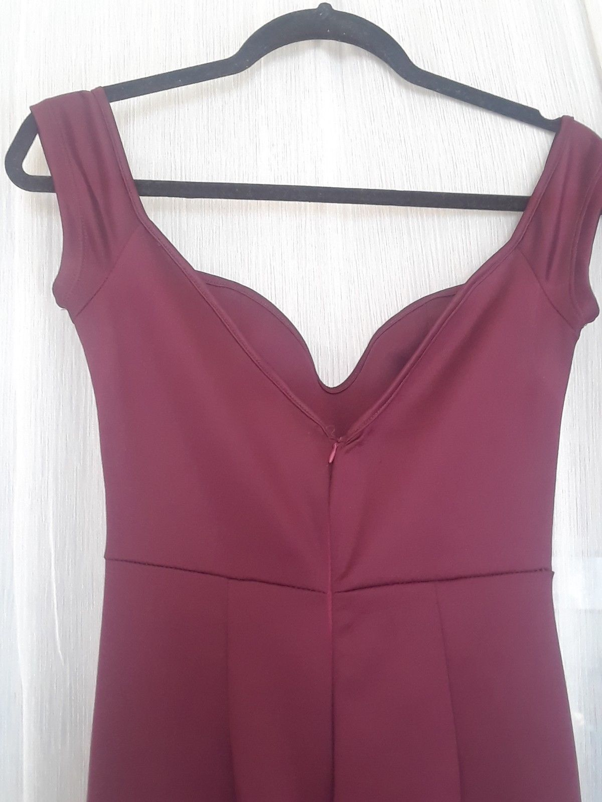 Maroonwine red mermaid body highlow offshoulder formal gowndress