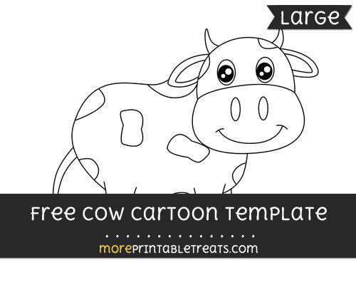 free cow cartoon template large farm theme printables free