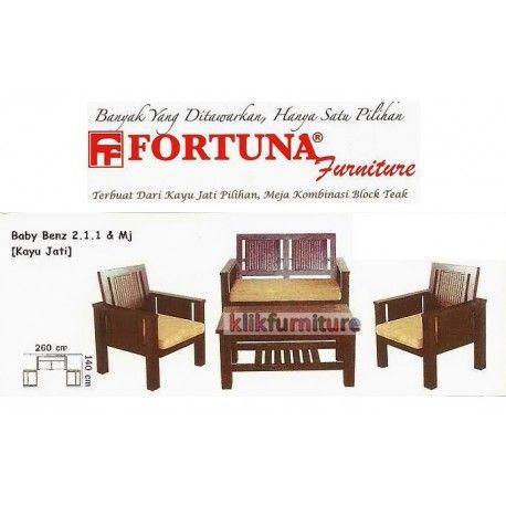 Harga Sofa Fortuna Baby Benz 211 Condition:  New product  Sofa Jati Tipe Baby Benz dengan dudukan 211 dan meja Terbuat dari kayu jati pilihan, meja kombinasi block teak