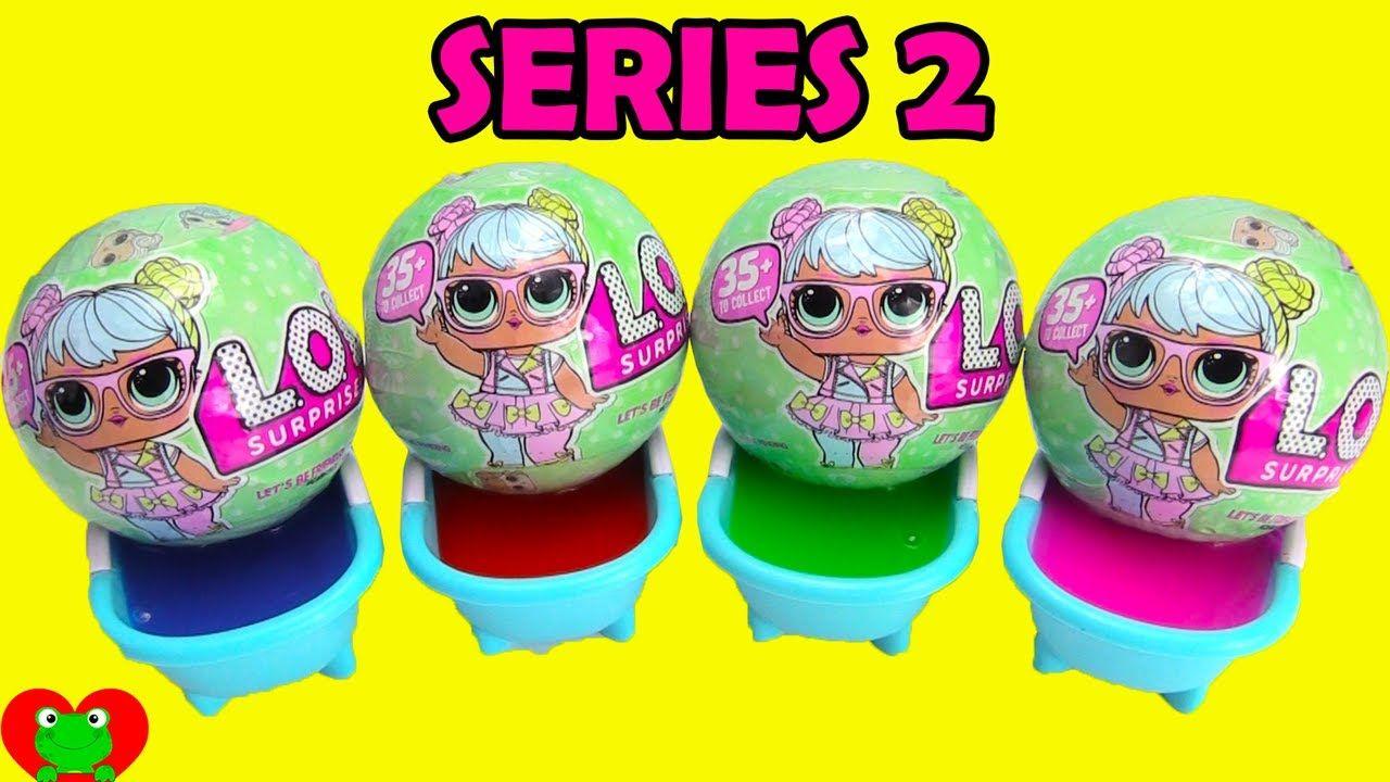 5d7ed6ad82 LOL Surprise Series 2 Lil Sisters Doll Slime Bath Surprises ...