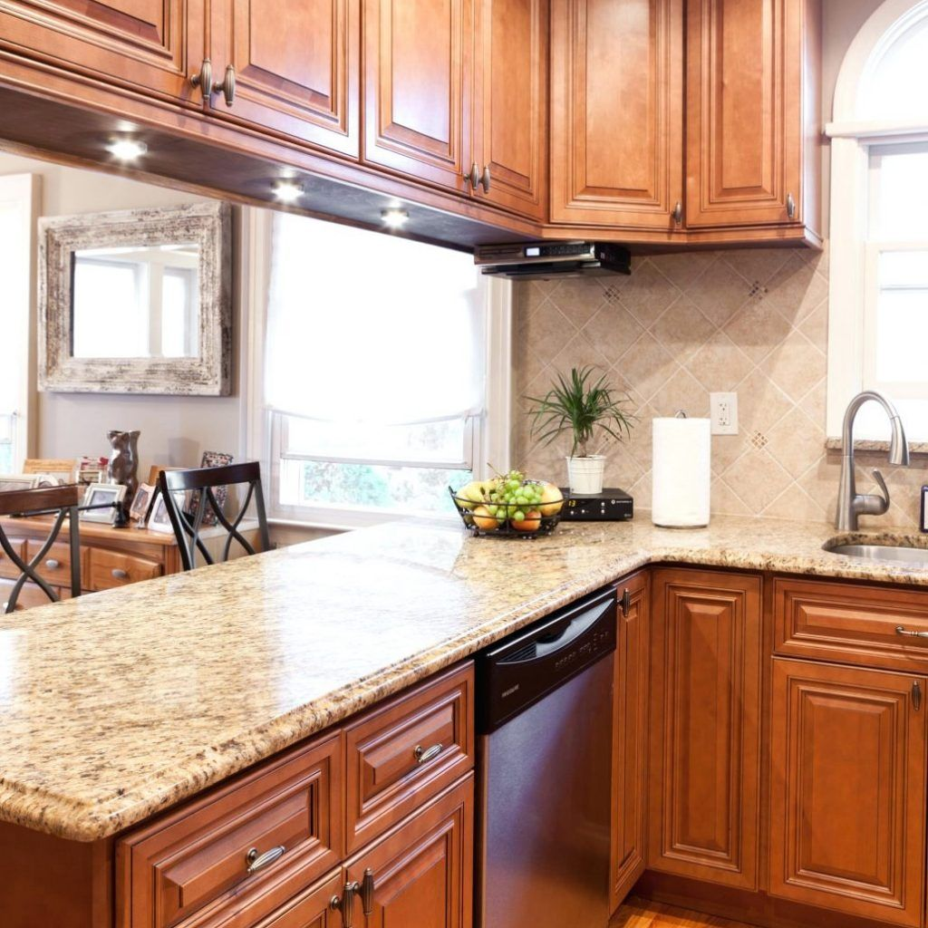 Vanilla Maple Glazed Kitchen Cabinets | Tuscan kitchen ...