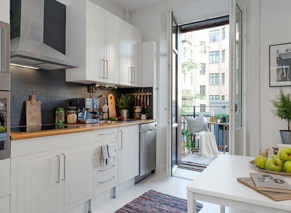 Funktionelle und praktische Küchenlösungen für kleine Küchen ...