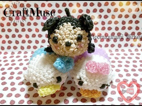 Amigurumi Loom Patterns : Rainbow loom mickey inspired by tsum tsum loomigurumi amigurumi