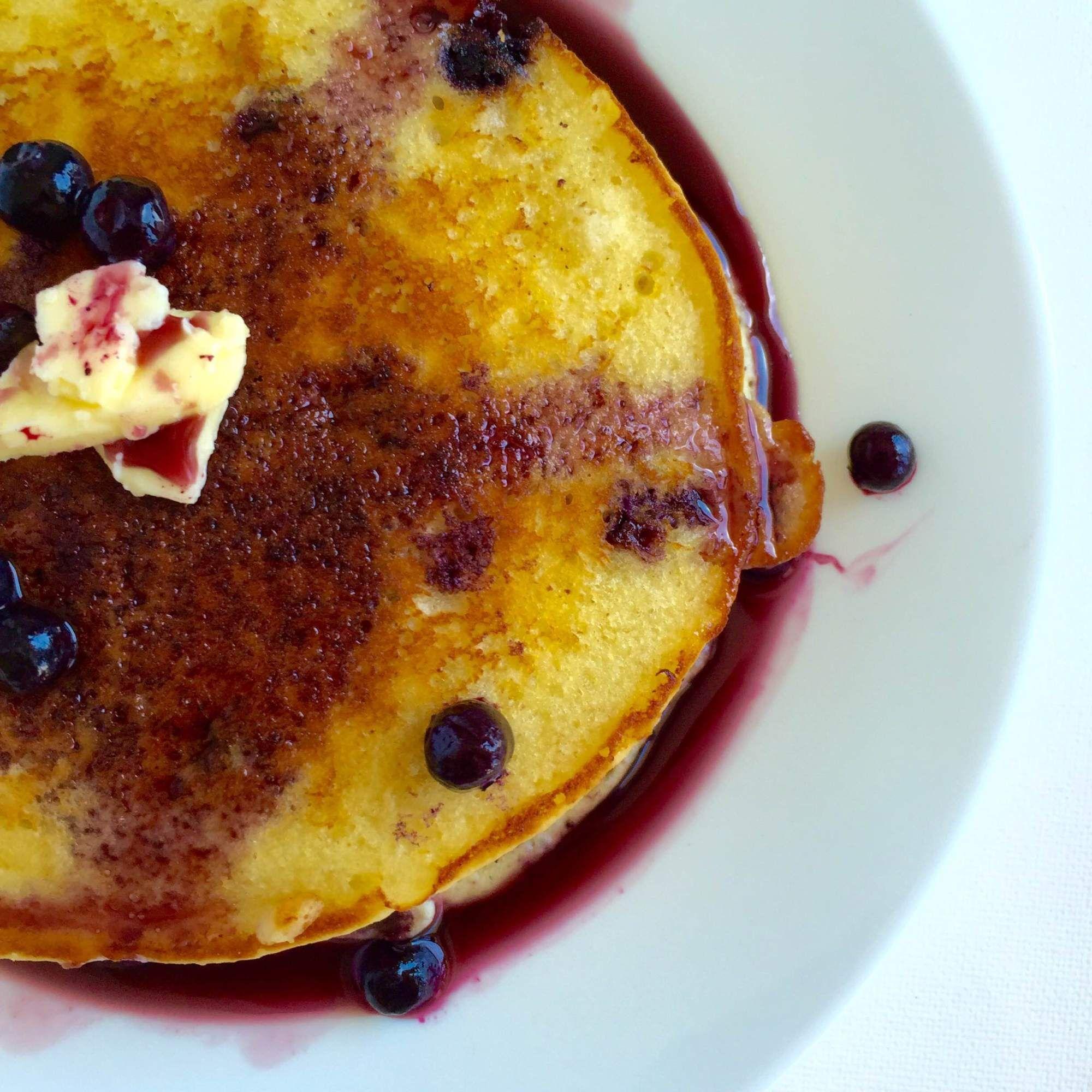 Blueberry Buttermilk Pancakes   Receta