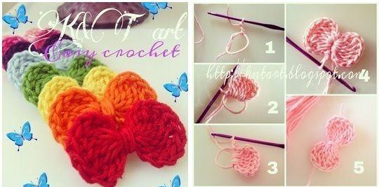 Lazos tejidos a crochet patrones | Sandalias | Pinterest