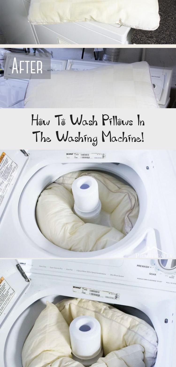 Did you know you can wash & whiten pillows in your washing