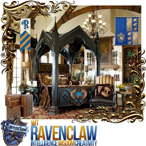 Harry Potter Bedroom Decorating Ideas Modern One Bedroom Apartment Design Black Leather Bedroom Suite Bedroom Colours For Dark Rooms: Ravenclaw Tower - Girls' Dormitory