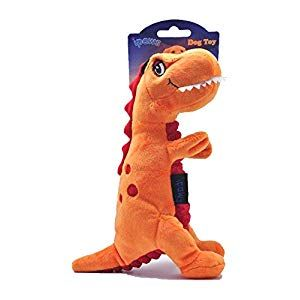 "ipaws 9"" Stuffed Squeaky Dinosaur Series Dog Plush Toys (T"