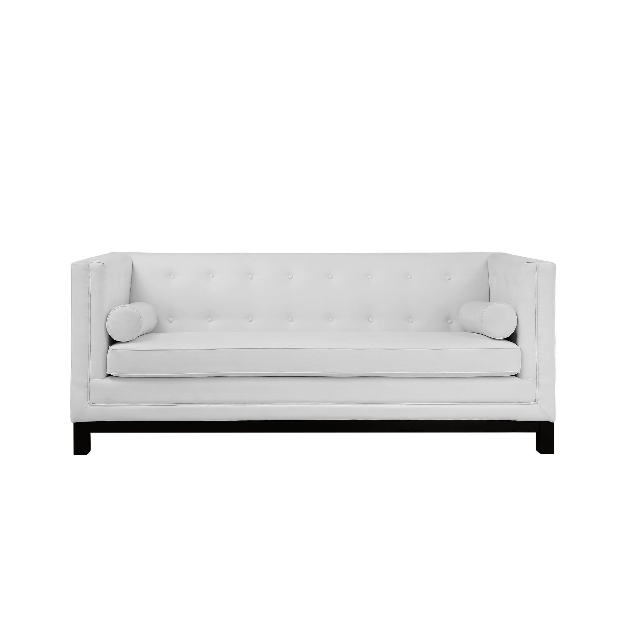 Surprising Imperial Bonded Leather Sofa White Modway Products Pdpeps Interior Chair Design Pdpepsorg