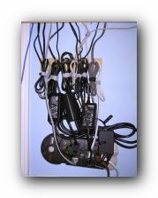 I totally fell short trying to organize all my computer cords. I'm going to try this. Website says she did it for $12