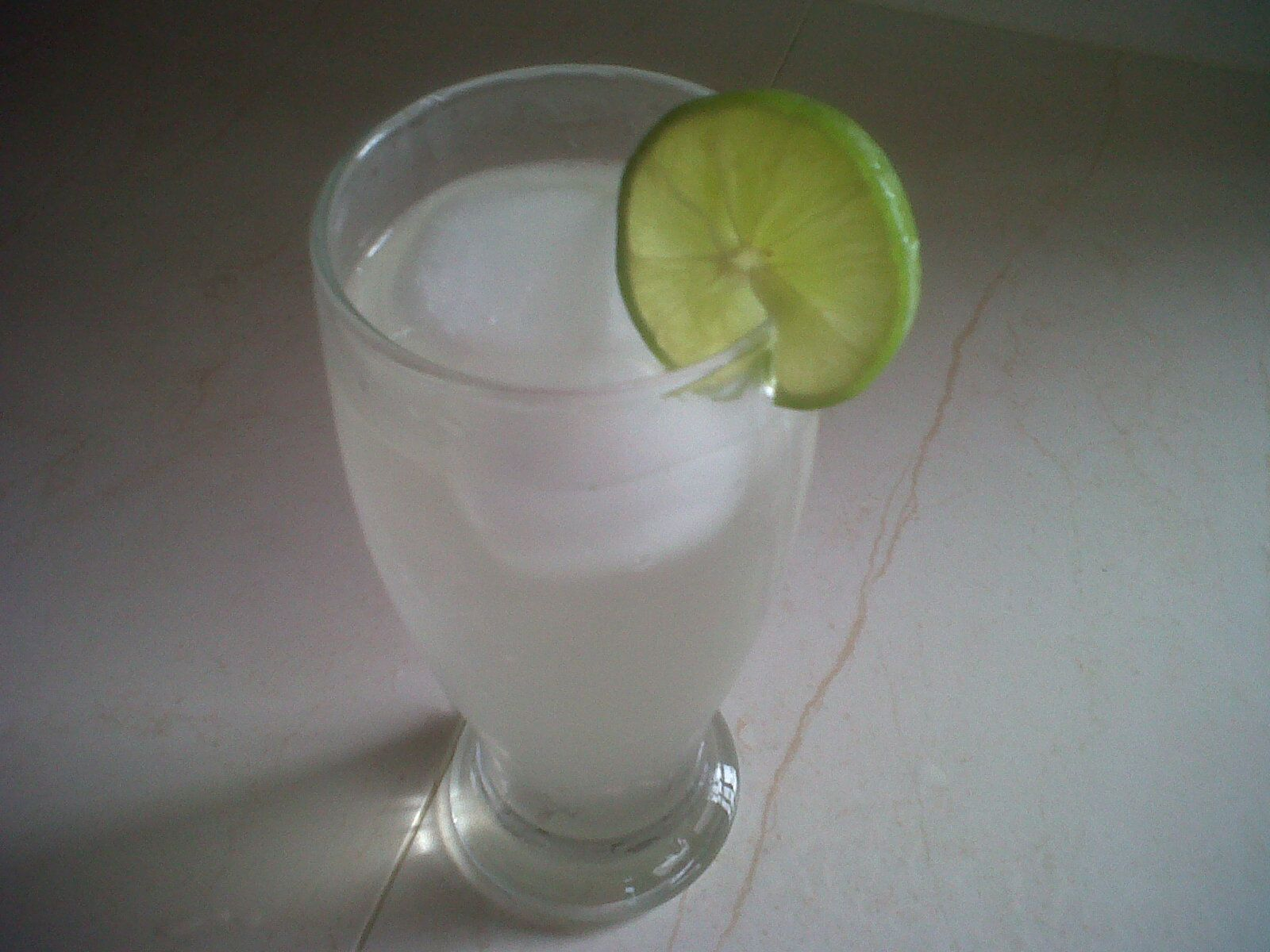 Ice cold lemonade ( well made with limes)