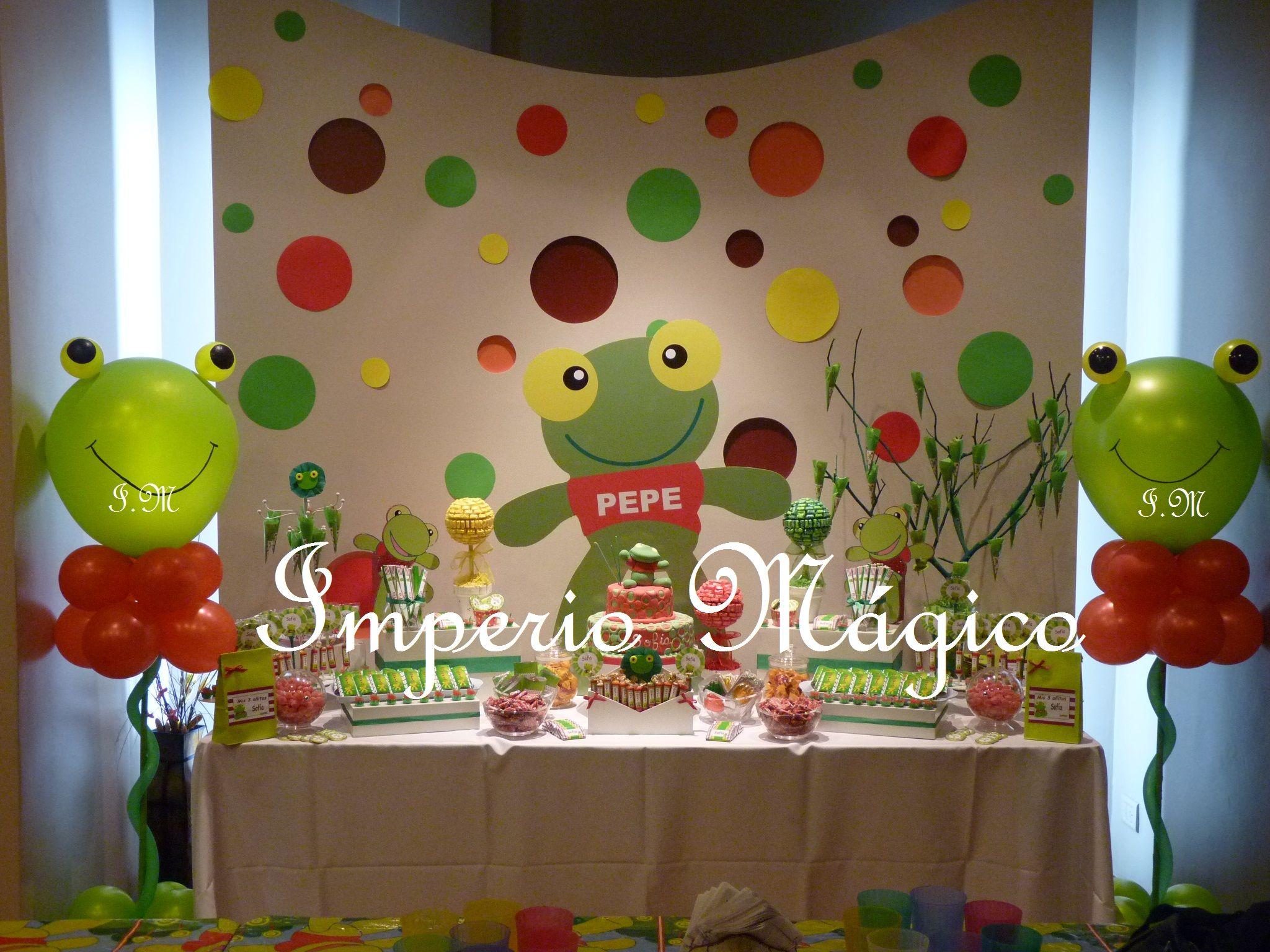 Mesa de golosinas del Sapo Pepe | Candy Bar | Pinterest | Mesas