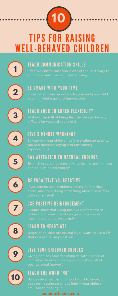 5 Tips for Raising Well-Behaved Children. Change your life today. #parenting