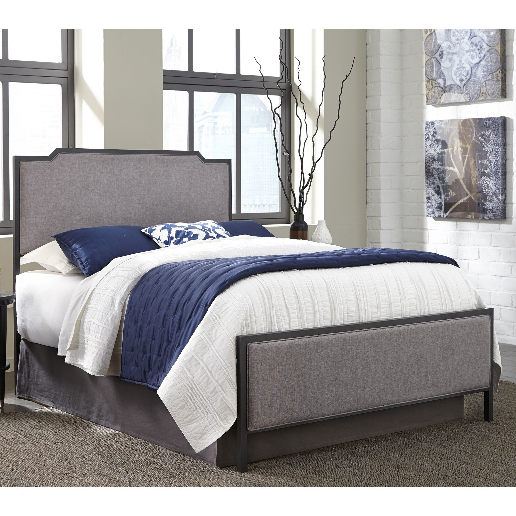 Fashion Bed Group Bayview Metal Bed in Black Pearl Finish