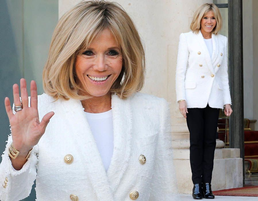 France S First Lady Brigitte Macron In Pictures Hot Hair Styles French Women Style Hair Beauty Cat