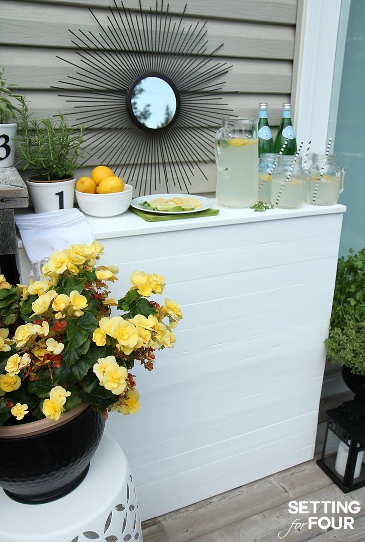 Diy Pallet Bar Instructions To Make Deck Patio Wood Planks And