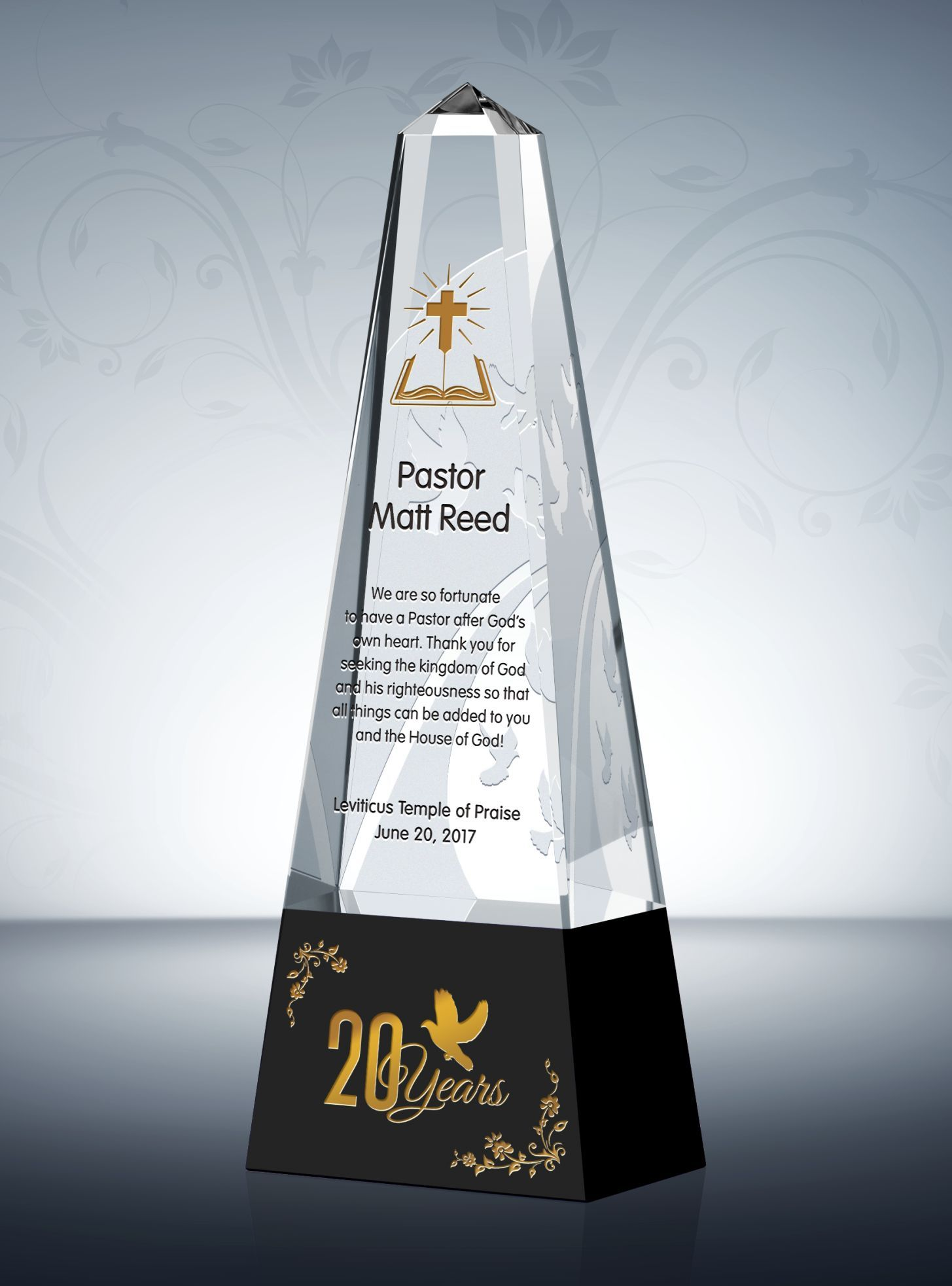20th pastoral anniversary gift plaque anniversary gifts