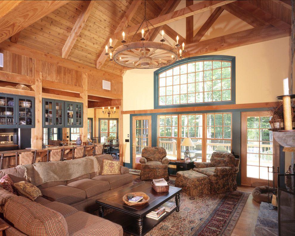 Rustic Org Farmhouse Living Room Wagon Wheel Chandelier