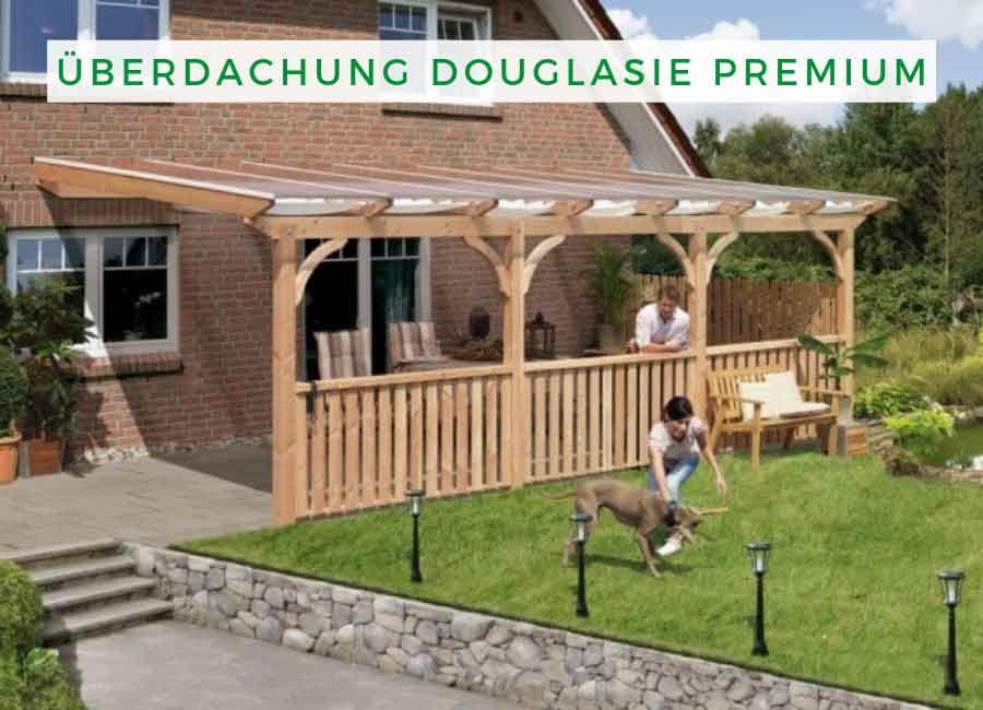 Karibu Terrassenüberdachung Douglasie Premium