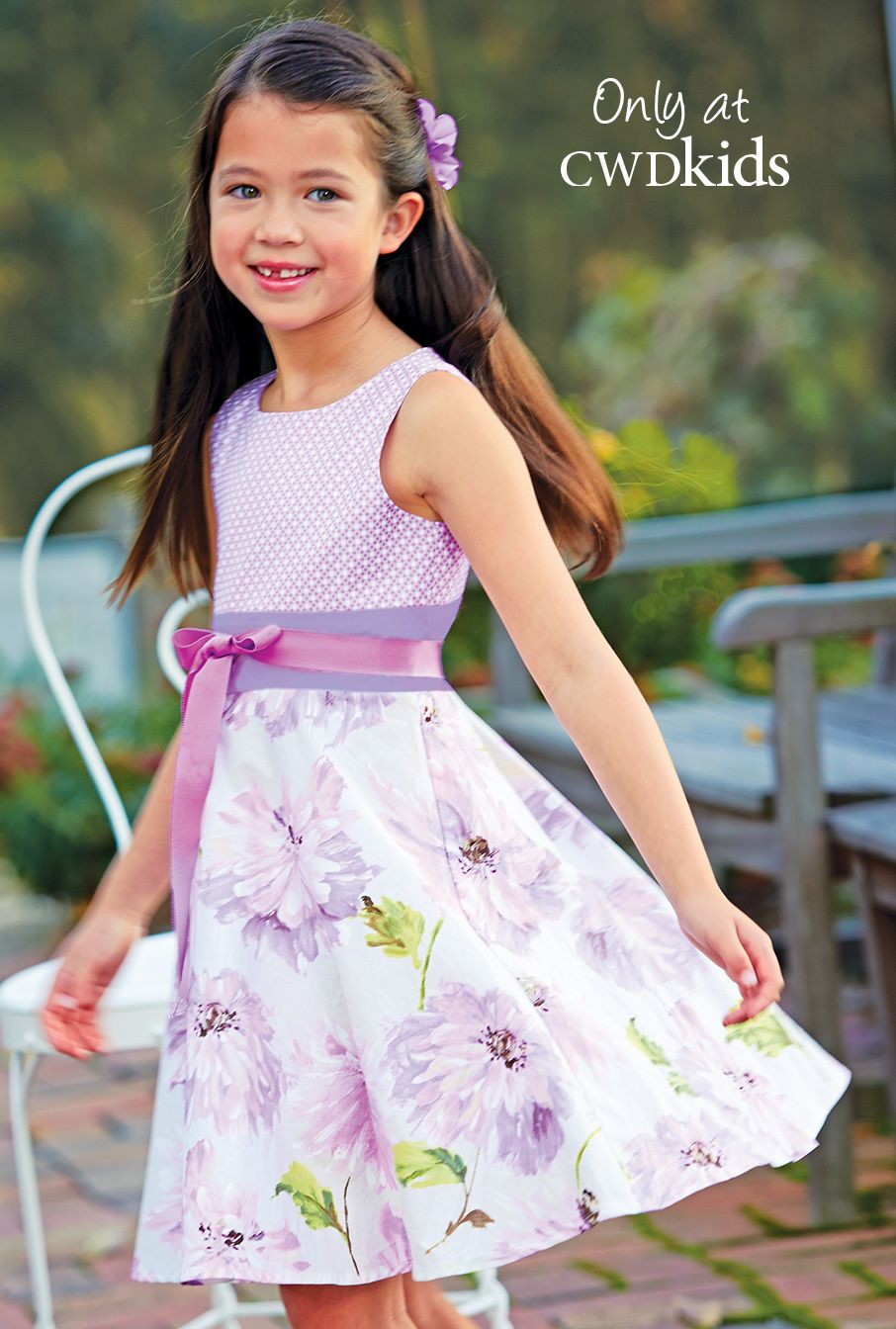 From CWDkids: Mixed Print Floral Dress