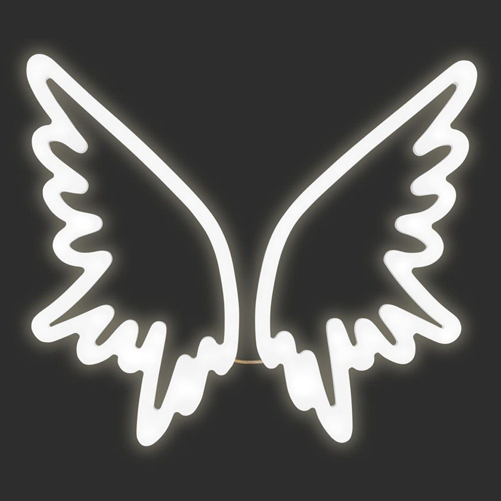 Angel Wings Neon Sign Wall Light White Neon Signs Led Signs Wall Signs