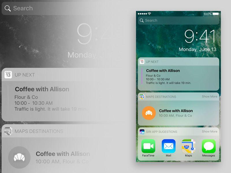 iOS 10 Lockscreen | Free Sketch App Resources | Pinterest