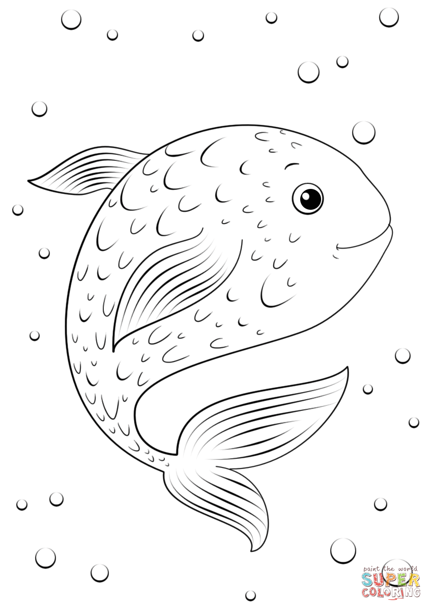 Fish Cartoon Coloring Pages Fish Coloring Page Cartoon Coloring Pages Cute Coloring Pages