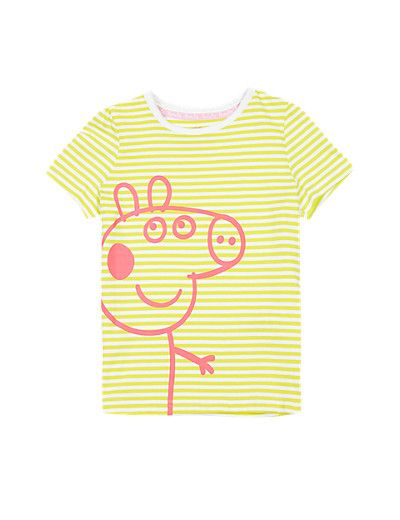b2ad63625 We think this bright and cool Peppa t-shirt looks good on boys and girls!