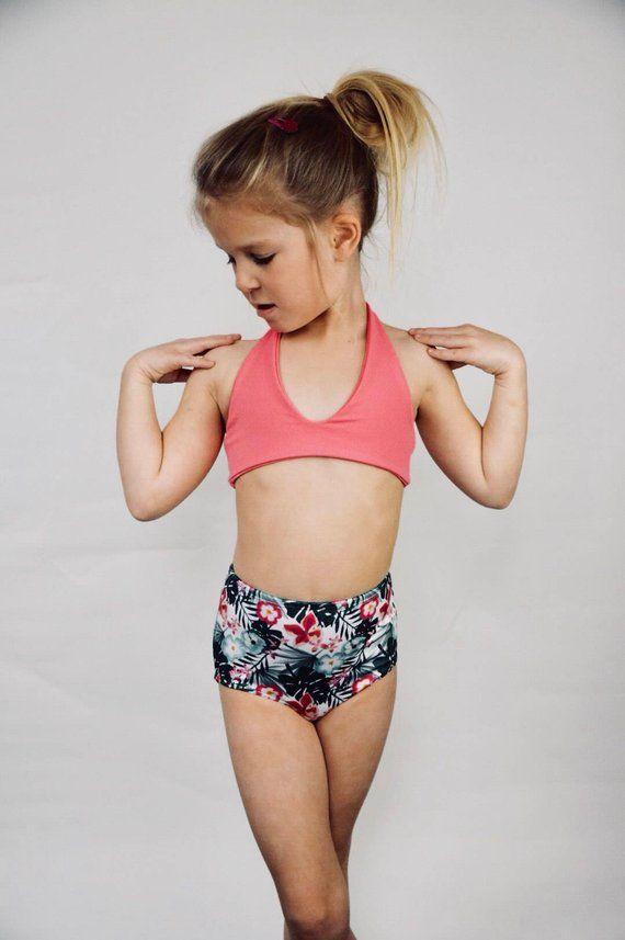 aee76edbc3 Pink Bikini Top/ Swimsuit/ Girls Swimwear/ Girls swimsuit/ Toddler bikini  Swimsuit / swim gift/ twee