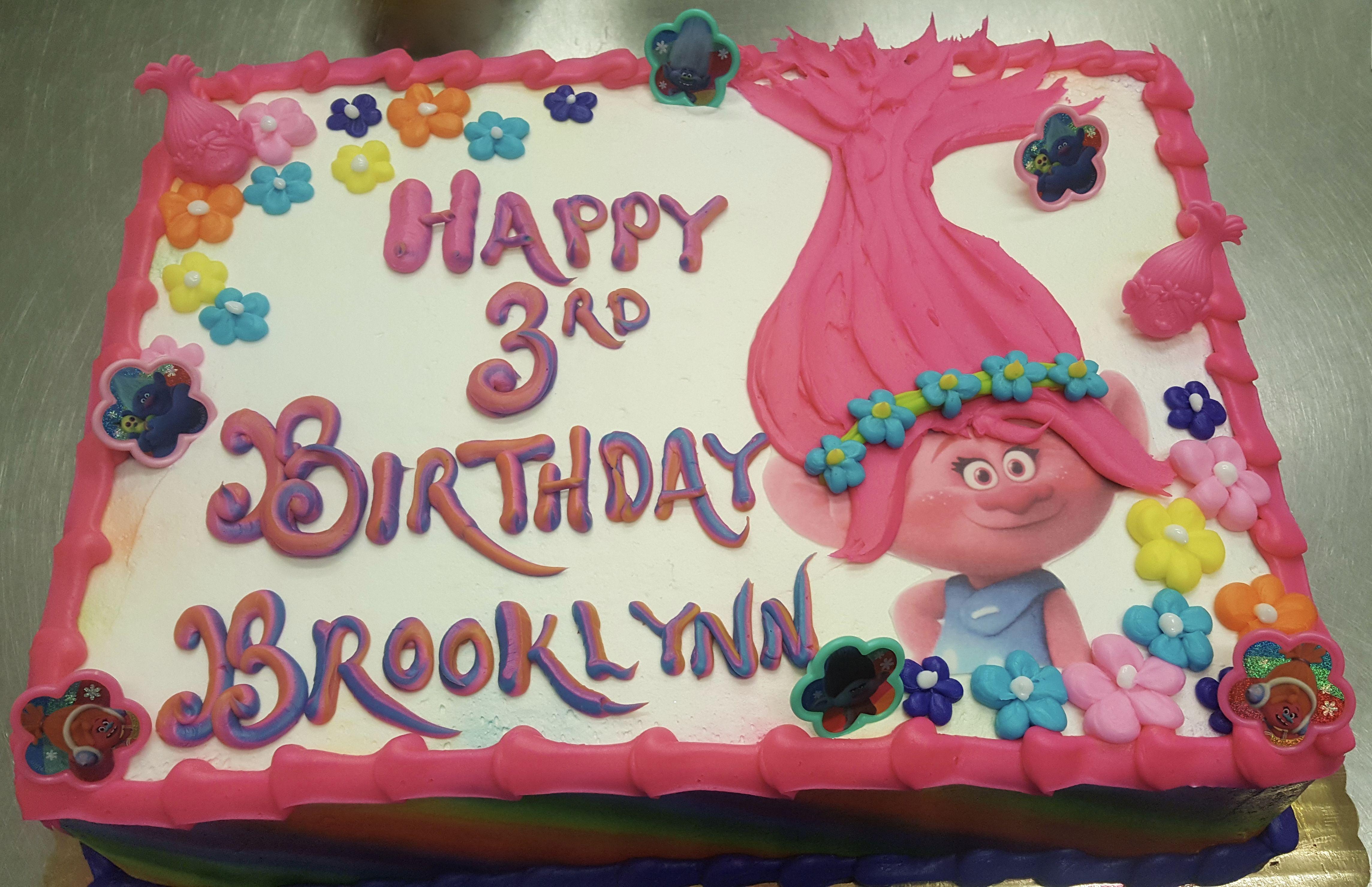 Incredible Calumet Bakery Trolls Sheet Cake Trolls Birthday Party Cake Funny Birthday Cards Online Hendilapandamsfinfo