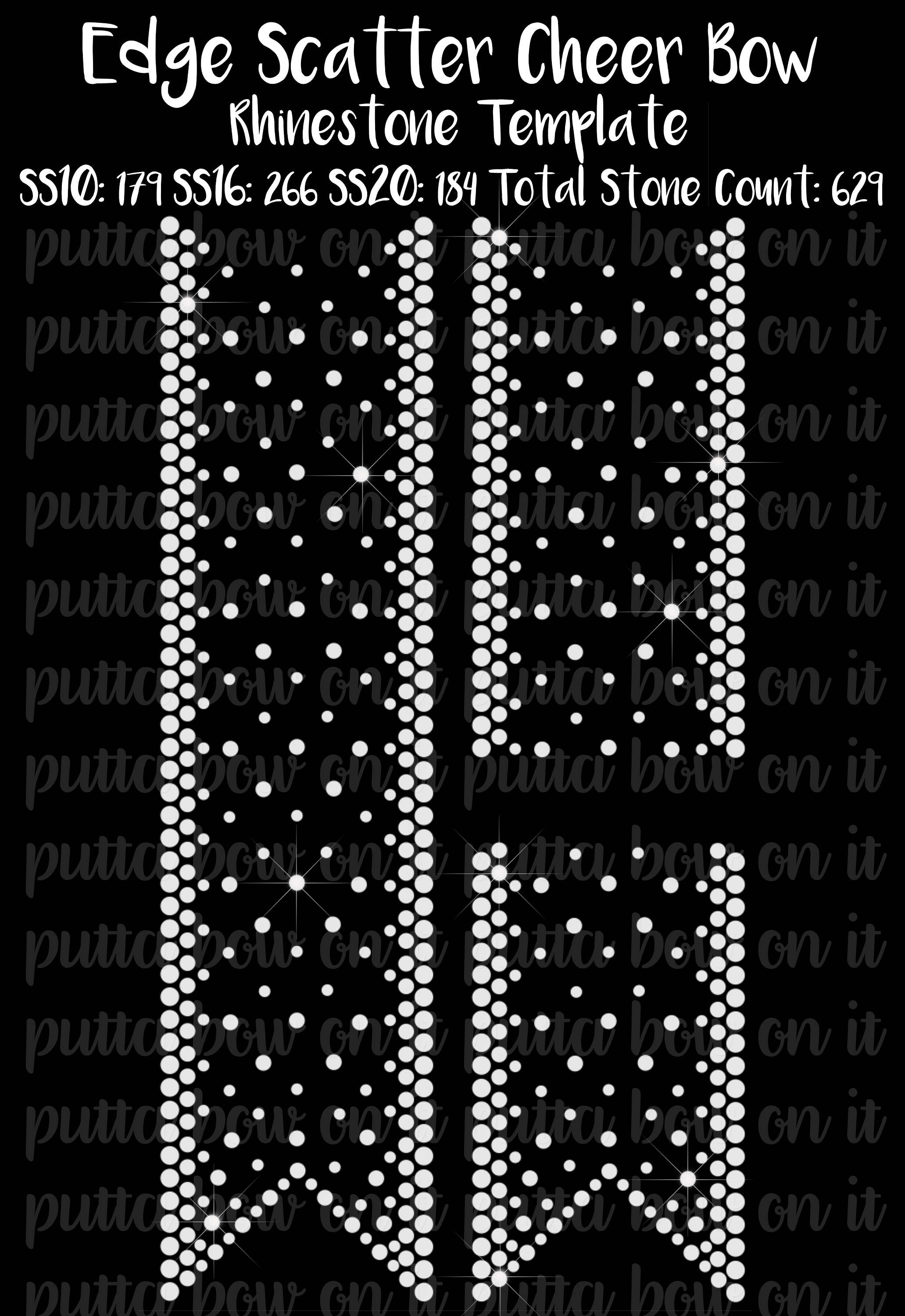Edge Scatter Rhinestone Cheer Bow Strip Template by PuttaBowOnIt ...