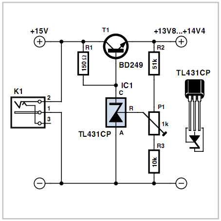 How to make Low-drop Series Regulator Circuit using a