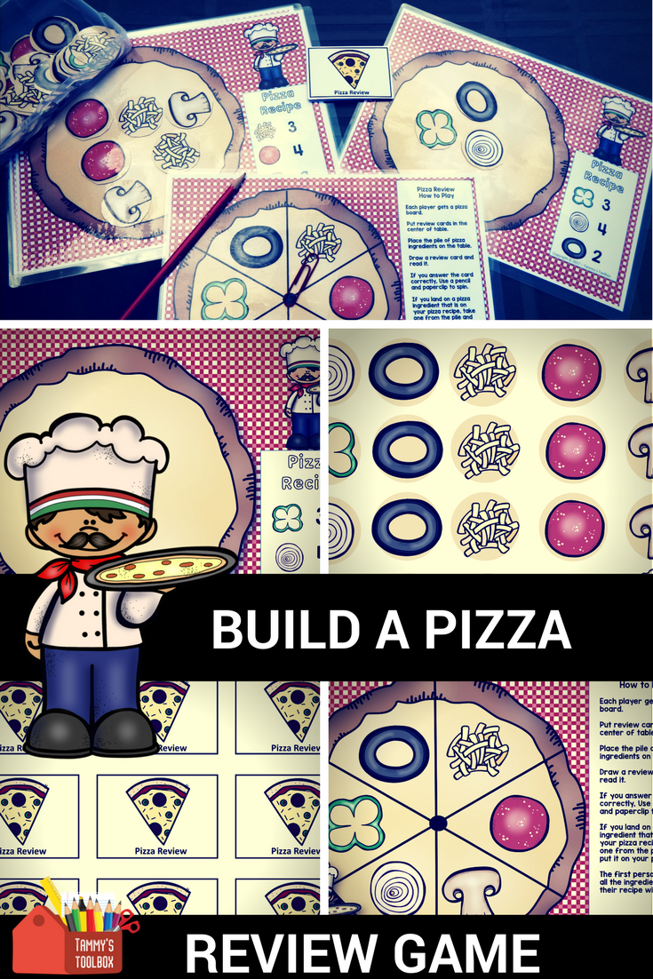 Fact Review Game for Any Subject Build a Pizza (With