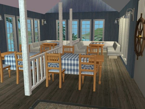 seafood restaurant dining room | sims 2 interiors | pinterest, Esszimmer dekoo