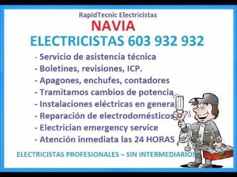 Electricistas NAVIA 603 932 932 Baratos