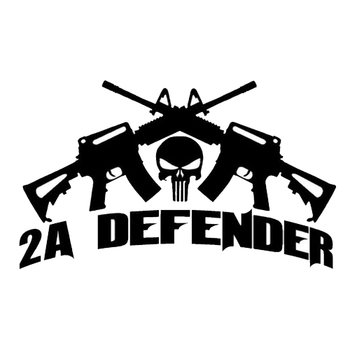 AR15 M4 Punisher Skull 2A Gun Rights Vinyl Decal Sticker Car Truck Window