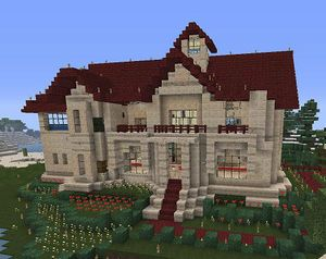 Minecraft オシャレな家 参考画像まとめ オシャレな家 家 装飾の