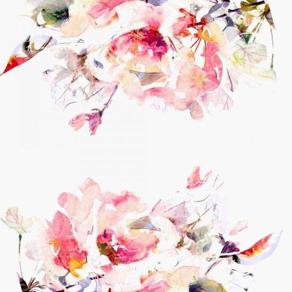 Spring Floral Mural In 2020 Watercolor Wallpaper Floral