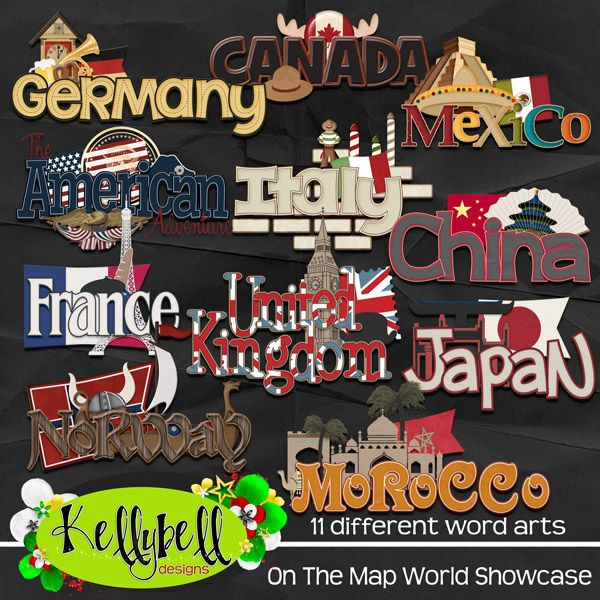 On The Map Epcot World Showcase | Digital scrapbooking products ...