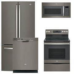 GE® 4-pc. Electric Kitchen Package- Slate | Slate kitchen ...