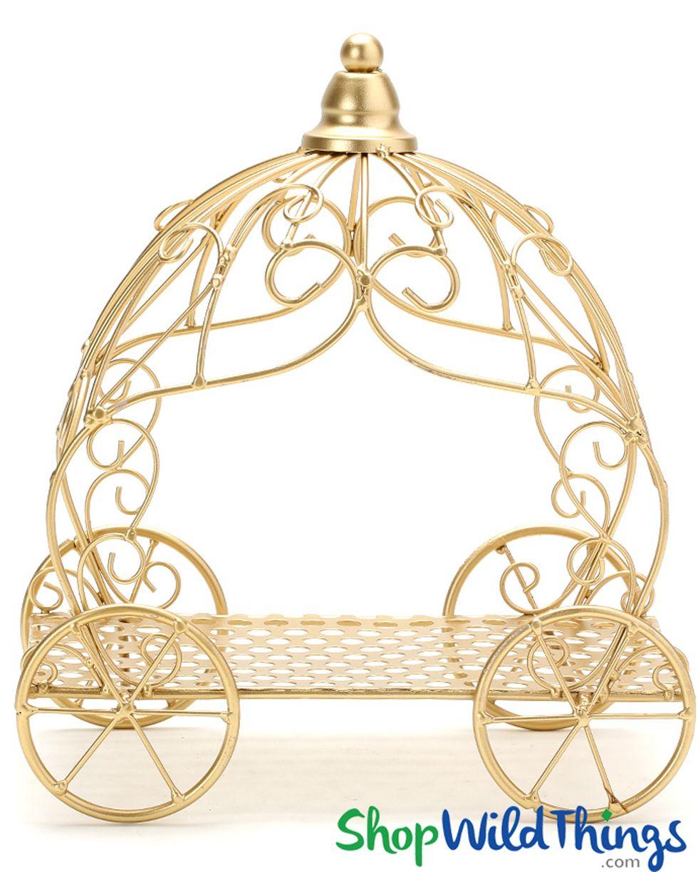 Cinderella Carriage Fancy Centerpiece - Gold - 10\