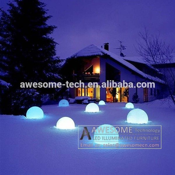Light up led ball décoration de noël en plein air buy product on alibaba com