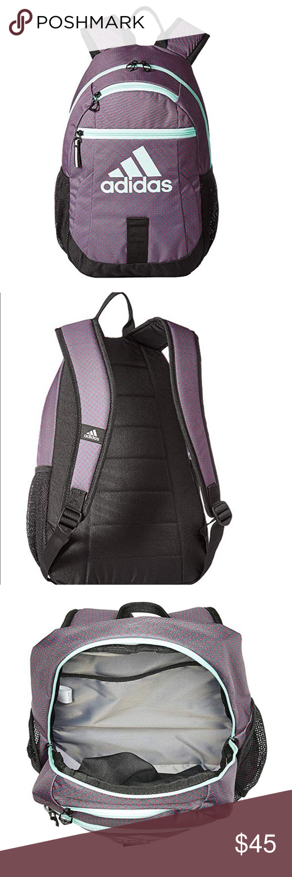 cedb671978d9 Purple mauve ADIDAS backpack NEW Brand new - fun colored ADIDAS backpack. Limited  edition color