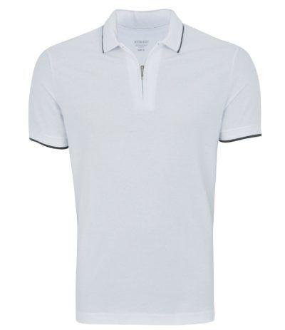 camisa polo masculina com fechamento em zíper  40828bb493911