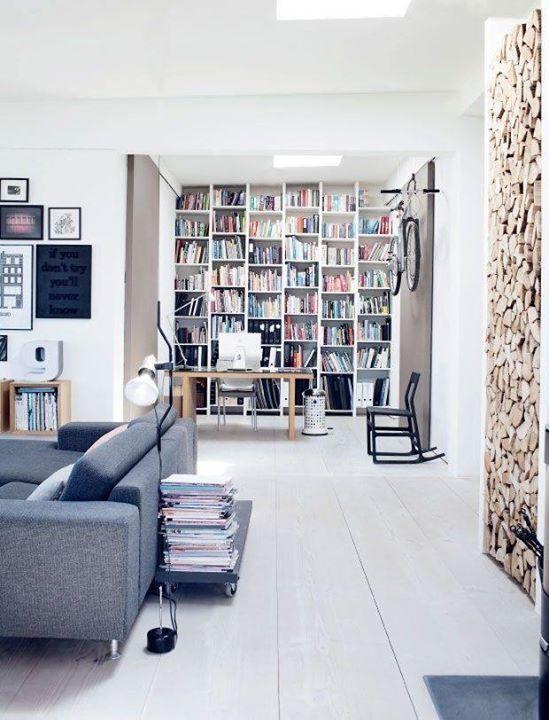 Biblioteca em casa moderna Bibliotecas e Livrarias Pinterest - bibliotecas modernas en casa