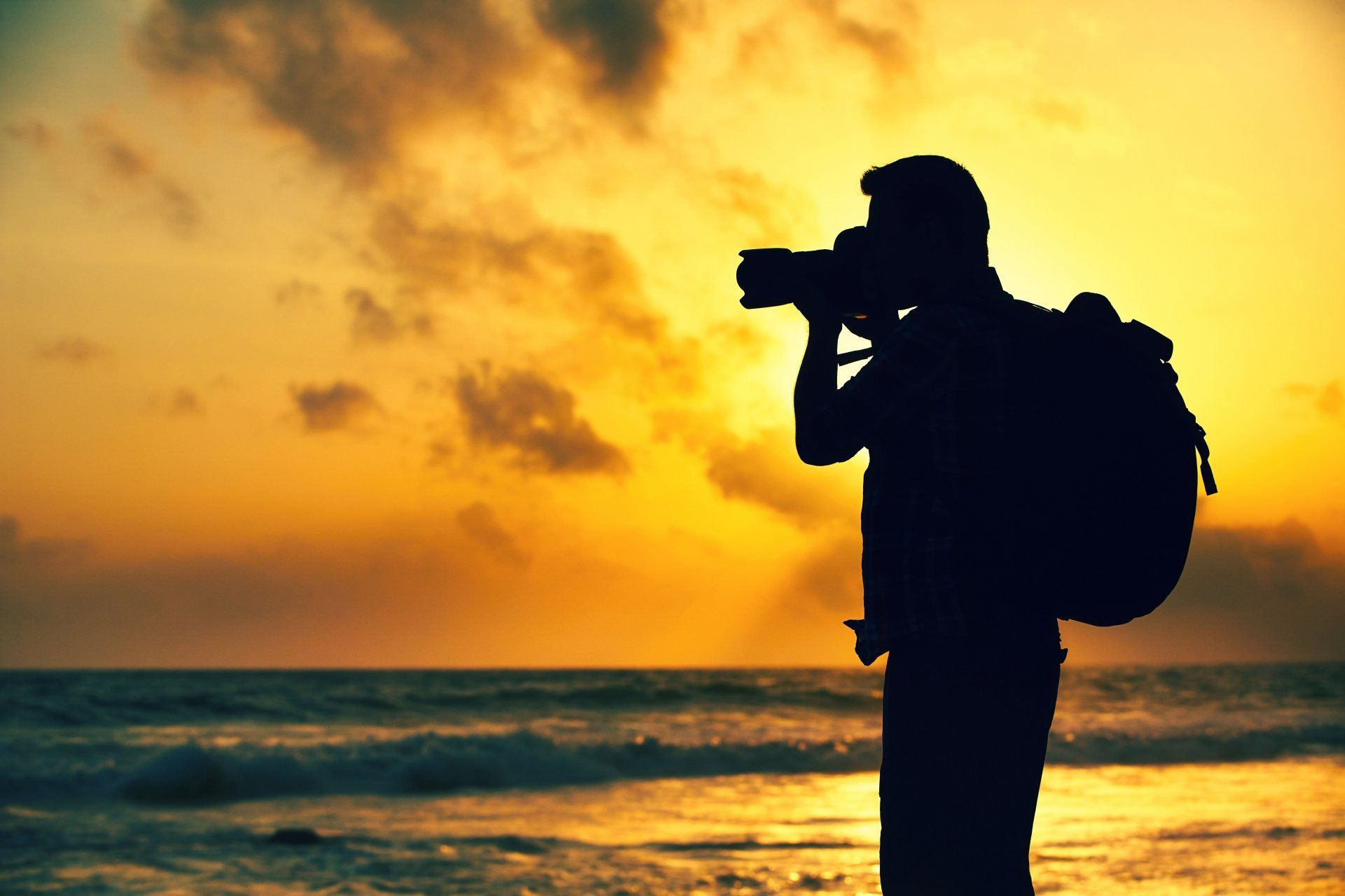 Man Traveller Silhouette Photographer Photos The Camera A Circuit Board Promotiononline Shopping For Promotional Removes Nature Night Sunset Sea Nice Background