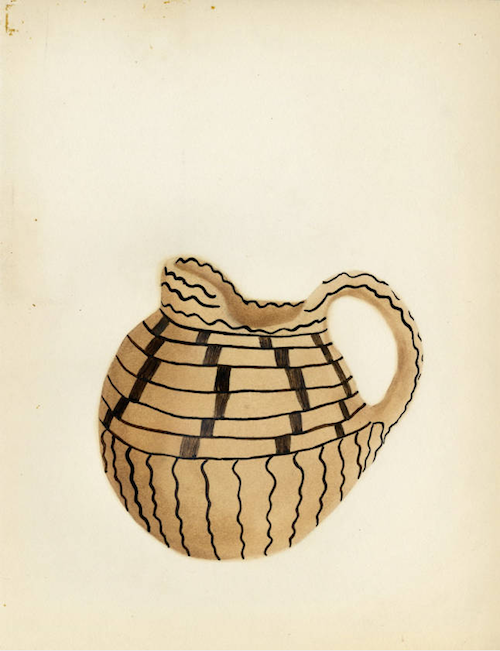 c.1930 watercolor paintings of Maricopa pottery viahttp://www.anambitiousprojectcollapsing.com/