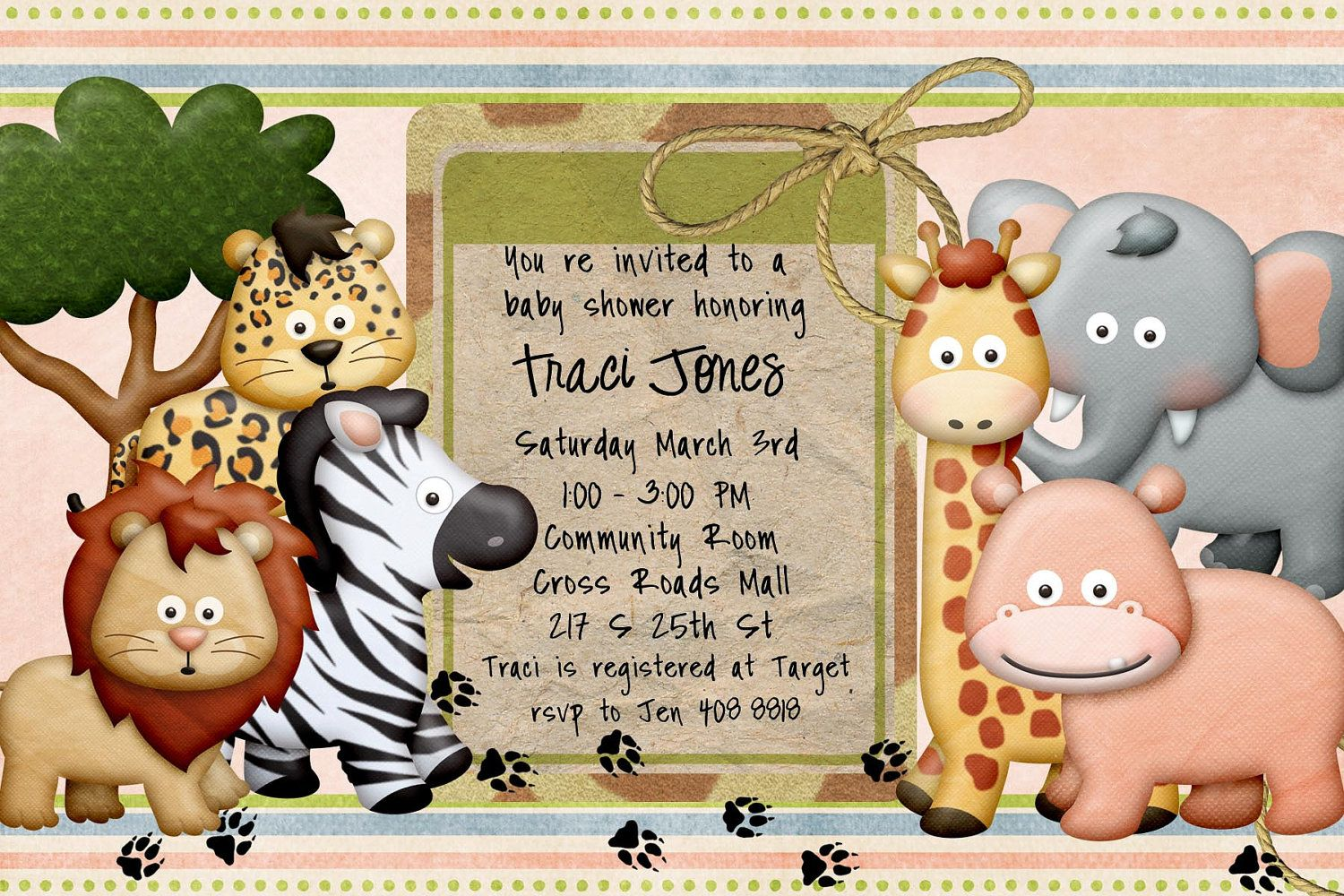 1000+ images about Invite Ideas on Pinterest | Baby shower safari ...
