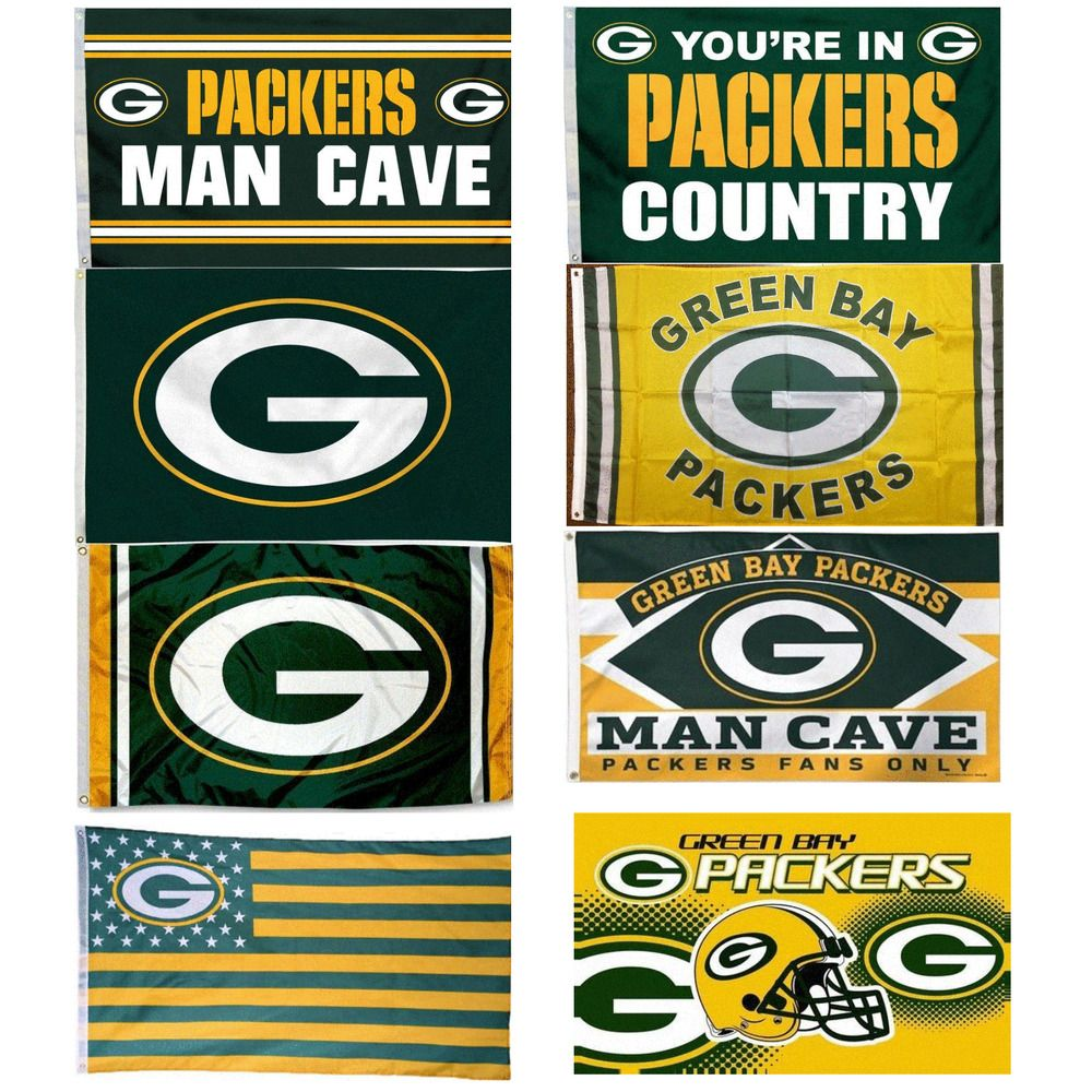 1 Green Bay Packers 3 X5 Flag Indoor Outdoor Football Team Banner Sign 36 X60 Sports Green Bay Packers Team Green Bay Packers Helmet Green Bay Packers Mascot